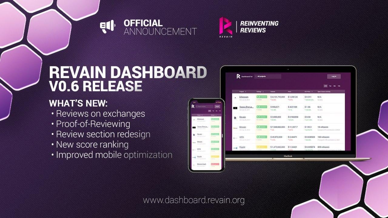 Revain announces dashboard